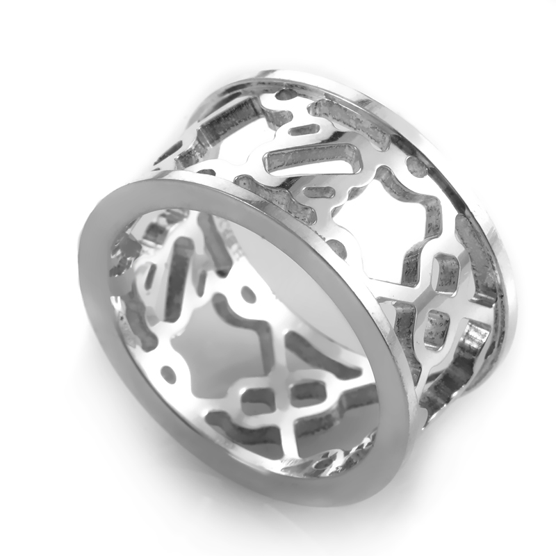 Chaîne d'Ancre Passerelle Women's Sterling Silver Cutout Band Ring