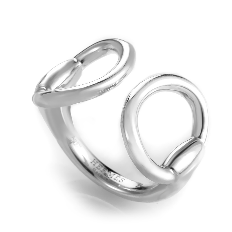 Women's Sterling Silver Horsebit Openwork Band Ring