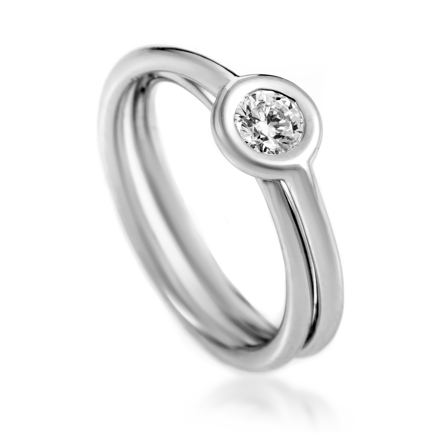 Hermès Women's 18K White Gold .27ct Diamond Solitaire Engagement Ring