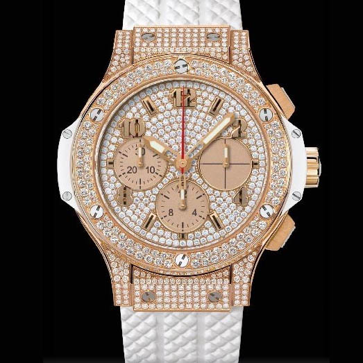 Big Bang 41mm Gold White Full Pave 341.PE.9010.RW.1704