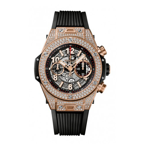 King Gold Pave Chronograph 411.OX.1180.RX.1704