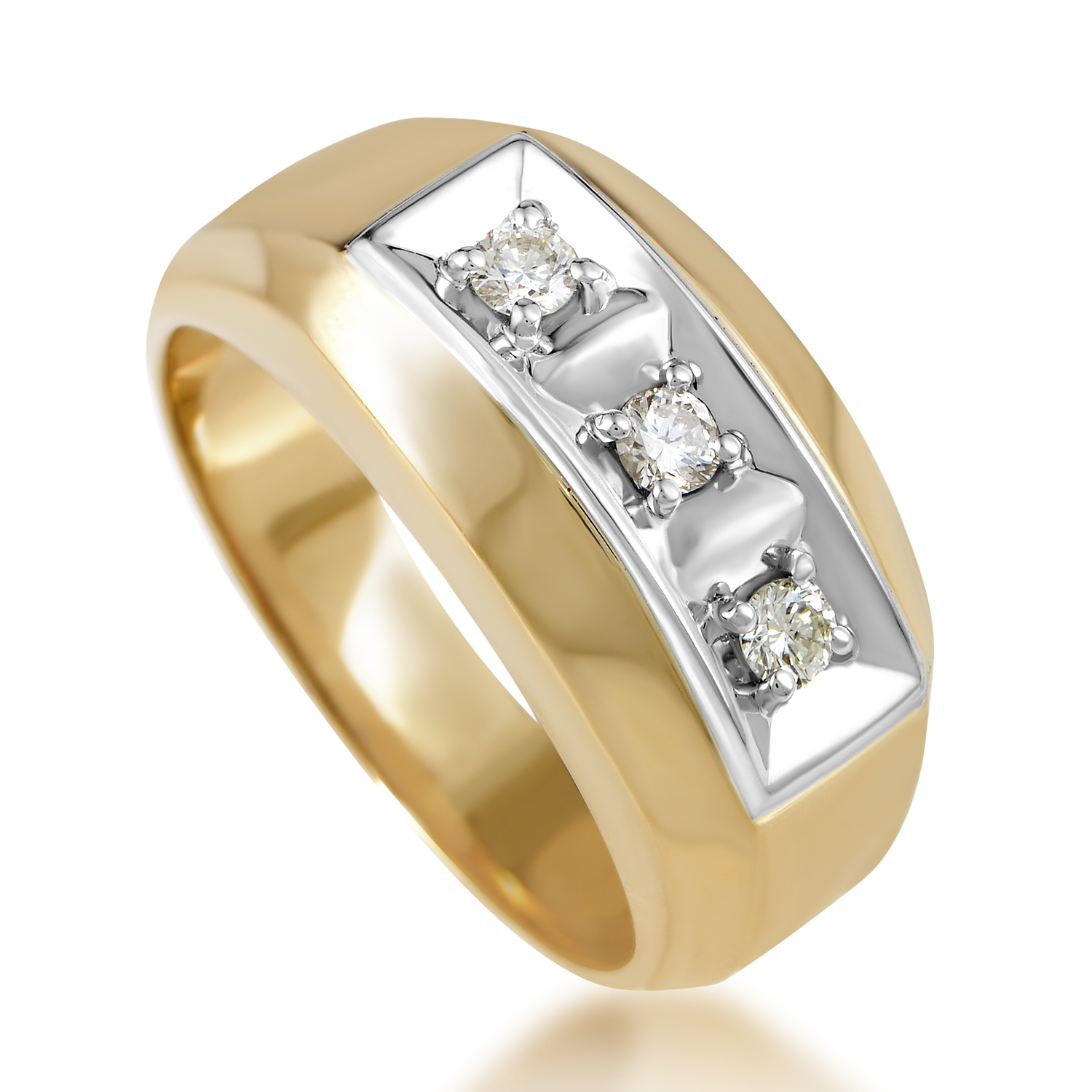 Men's 14K Multi-Tone Gold & Diamond Band Ring 04131X084E1