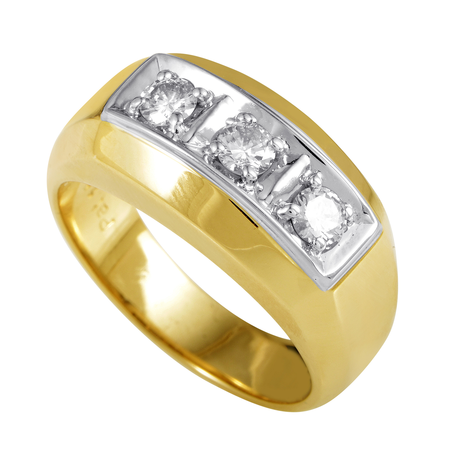 Men's 14K Yellow & White Gold Diamond Ring 04131X164E1