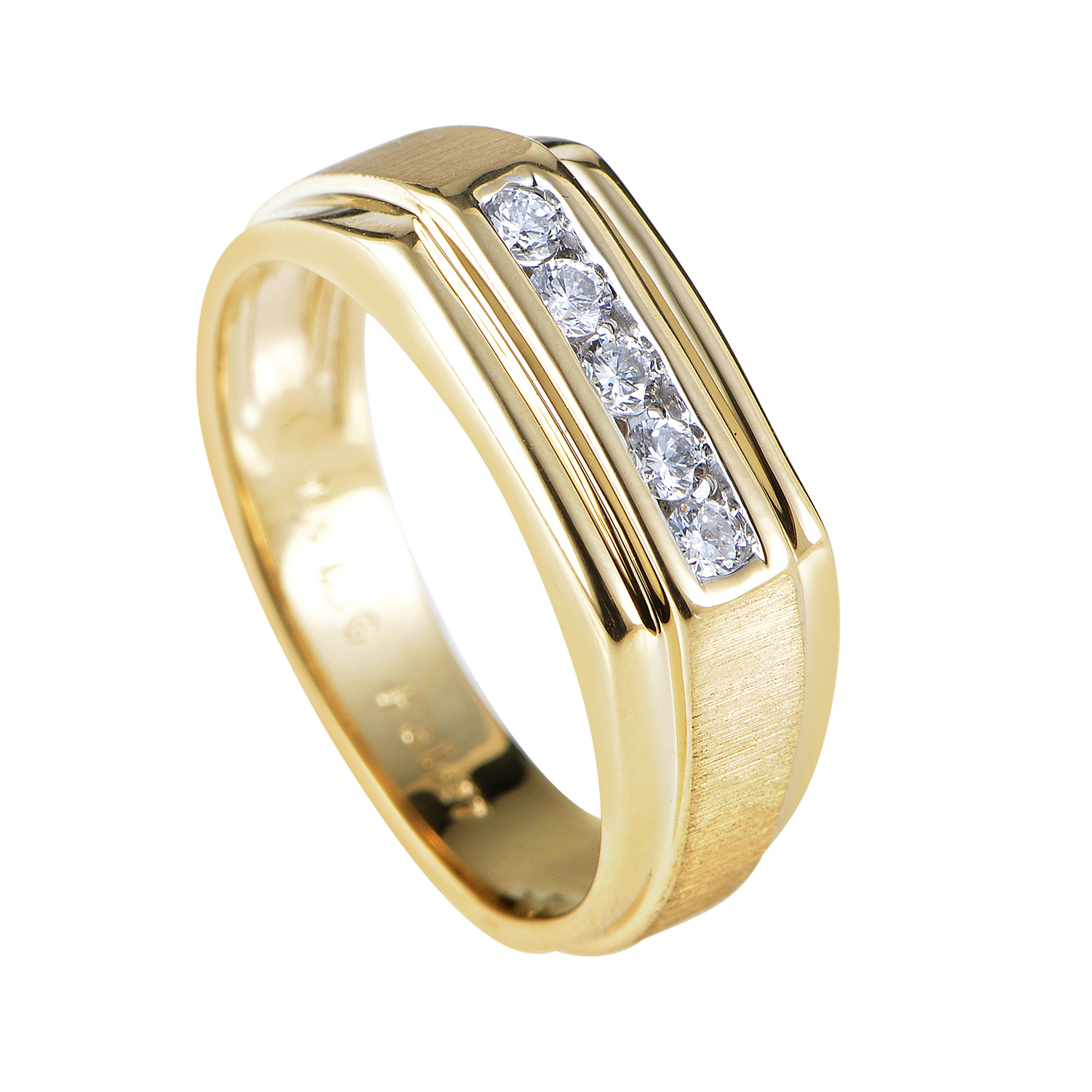 14K Yellow Gold Diamond Band Ring 56116AXX4V