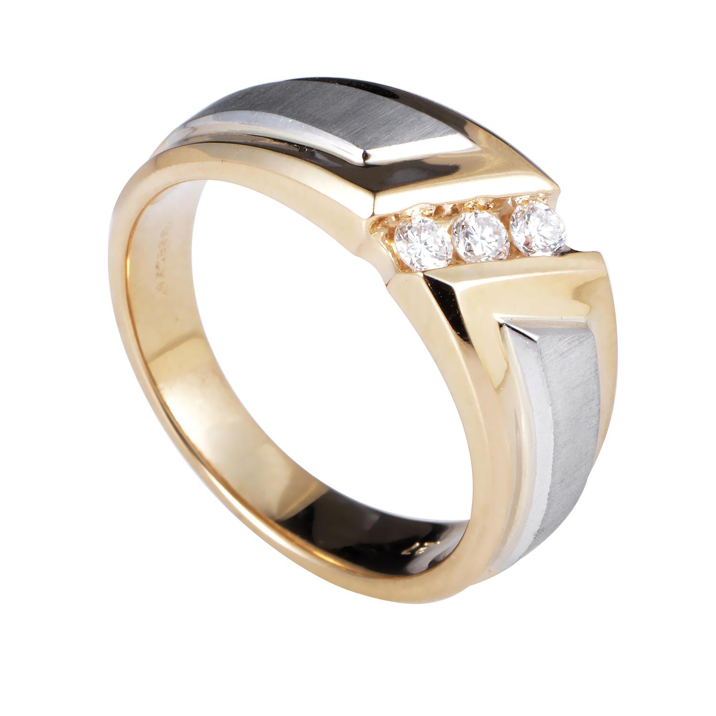 14K Multi-Tone Gold & Diamond Ring 58007XXX4E1