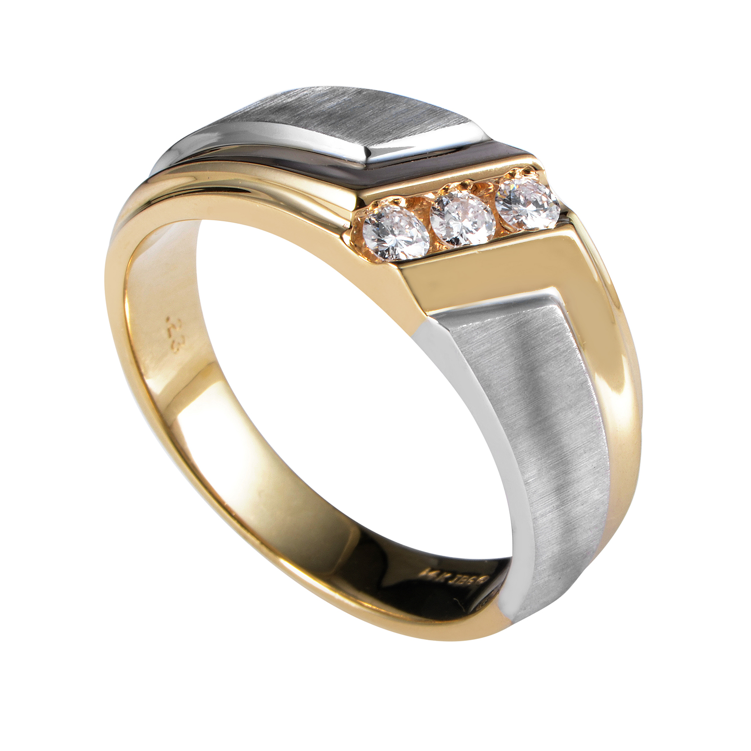 14 Multi-Tone Gold Diamond Band Ring 58008XXX4E1