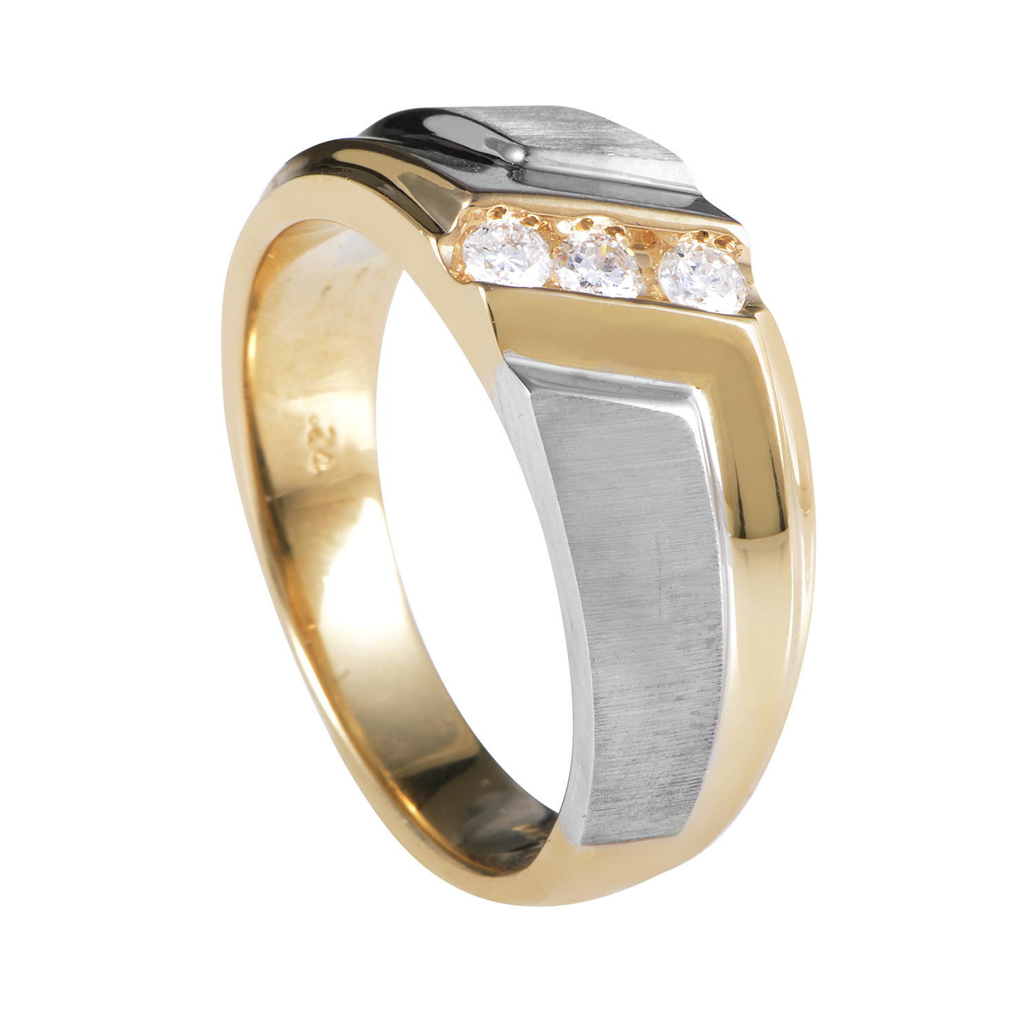 14K Multi-Tone Gold Diamond Band Ring 58008XXX4E2