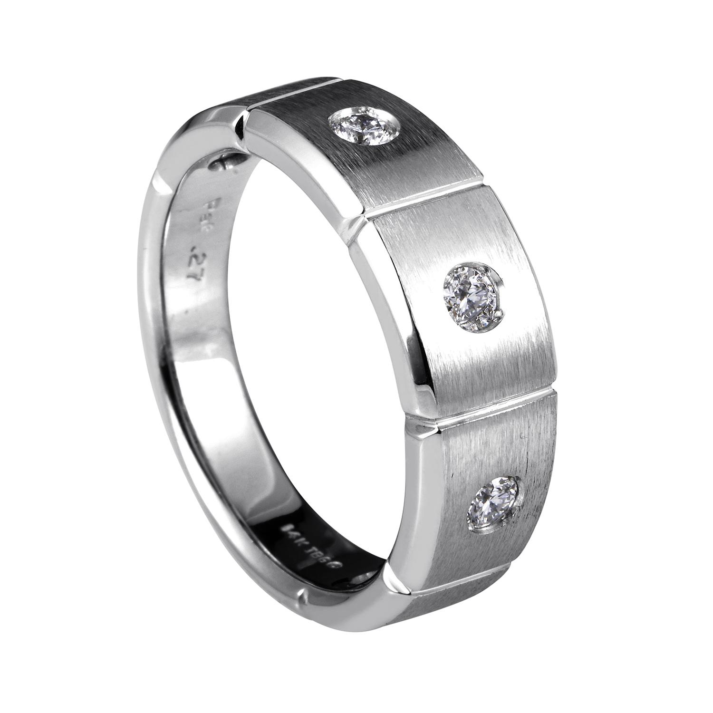 14K White Gold Diamond Band Ring 58948XXX4X2