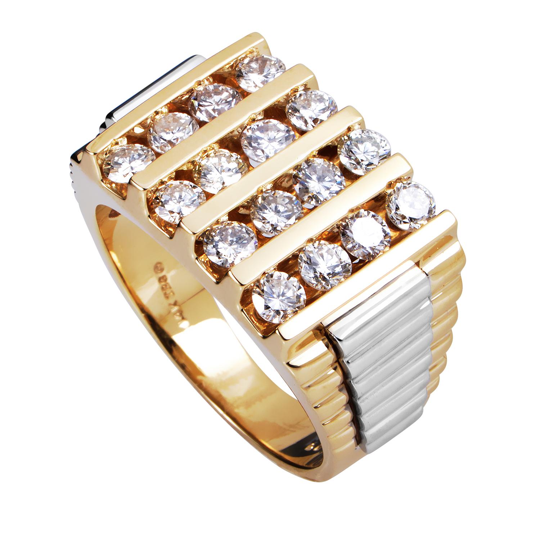 14K Multi-Tone Gold Diamond Band Ring 58975XXX4X2