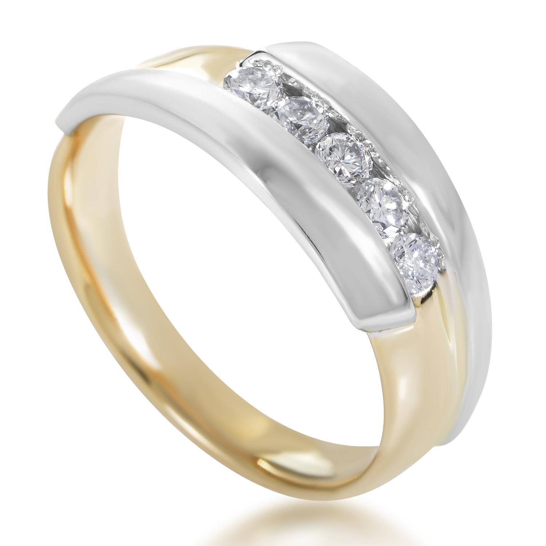 14K Multi-Tone Gold & Diamond Band Ring 62819XXX4X