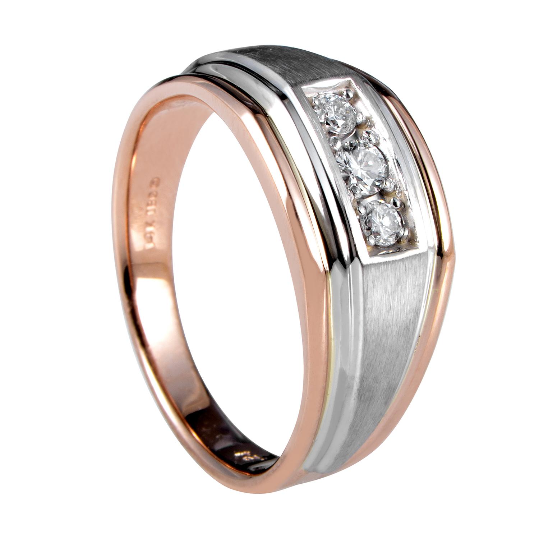 14K Multi-Tone Gold Diamond Band Ring 63171XXX4X1