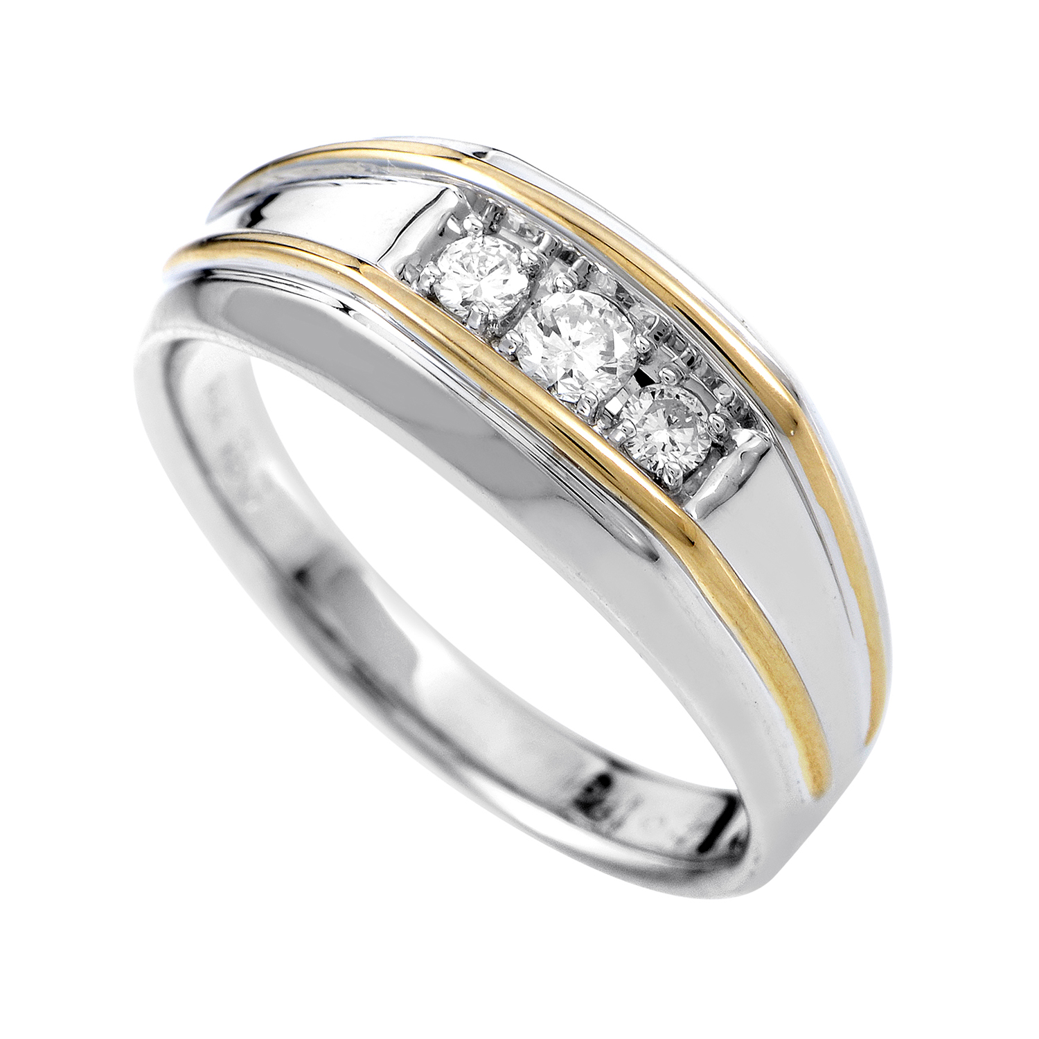 14K Multi-Tone Gold Diamond Band Ring 63172XXX4X