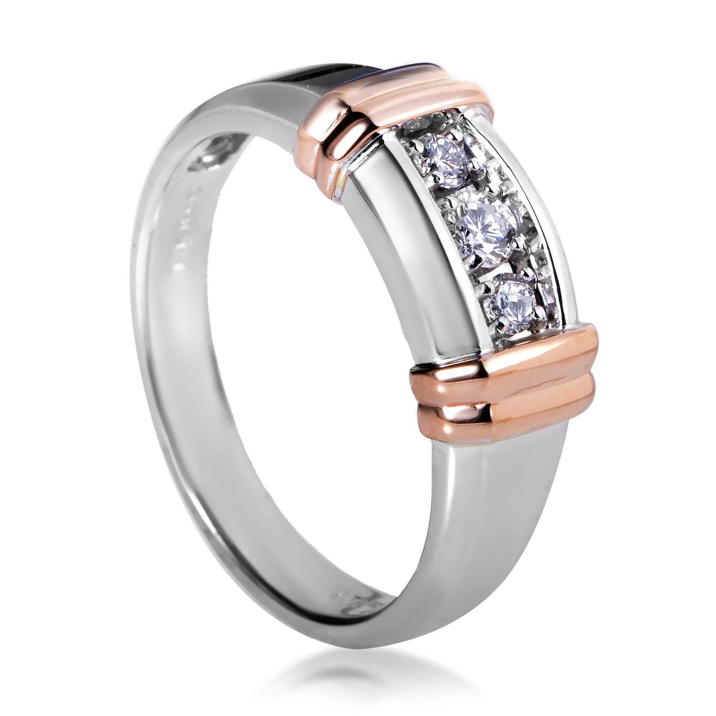 14K Multi-Tone Gold Diamond Band Ring 63178XXX4X1RG