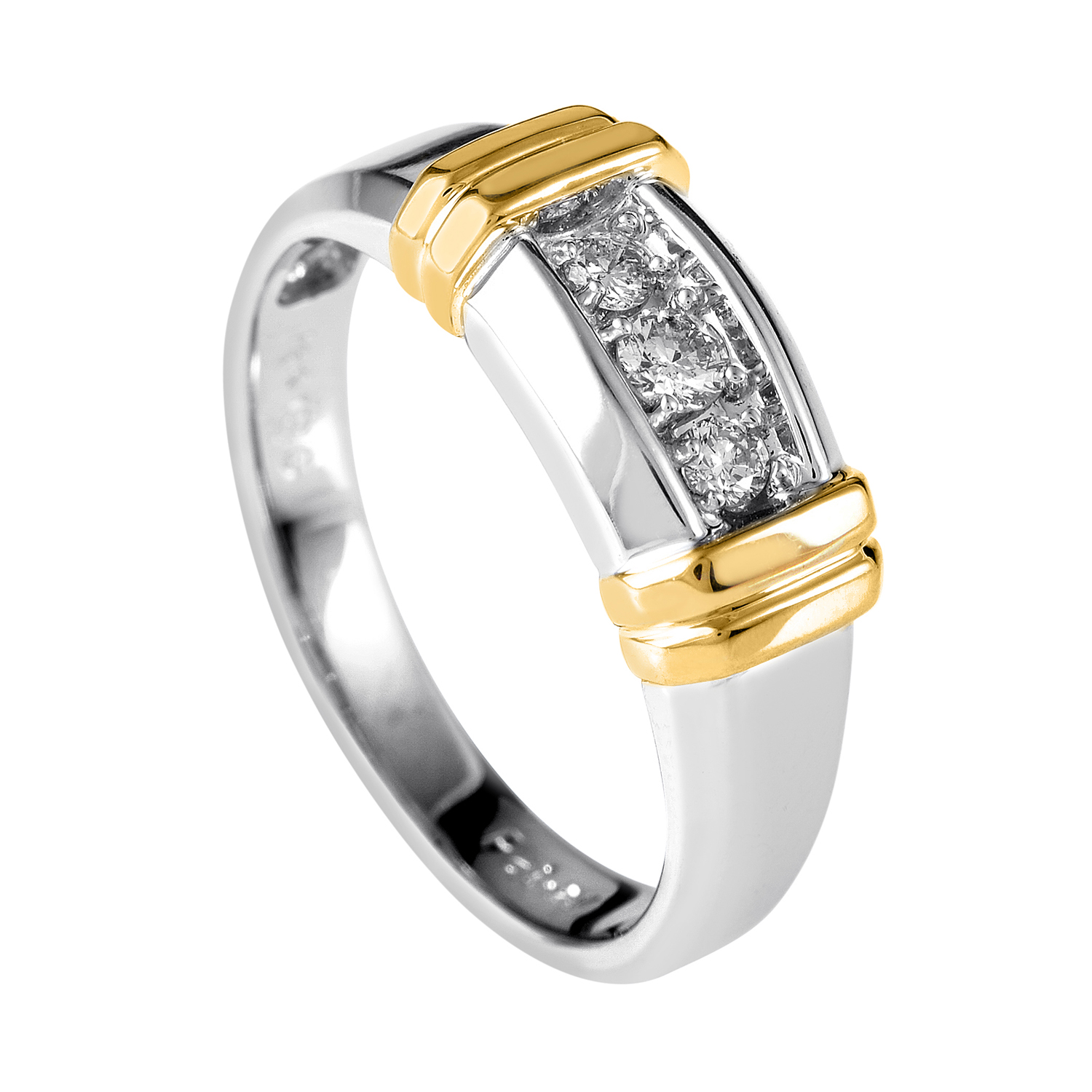 14K Multi-Tone Gold & Diamond Band Ring 63178XXX4X