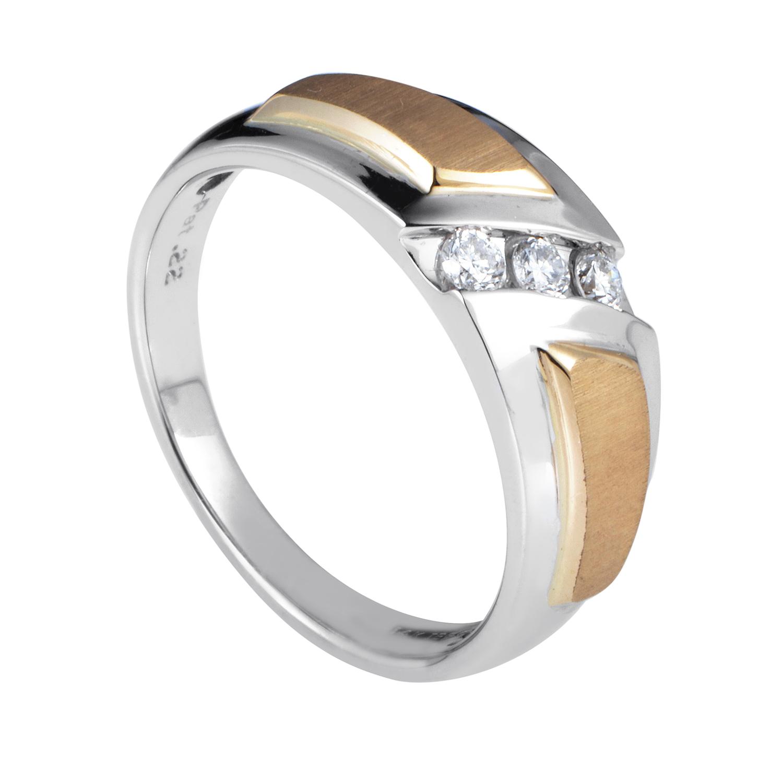 14K Multi-Tone Gold Diamond Band Ring 63232XXX4EWG3