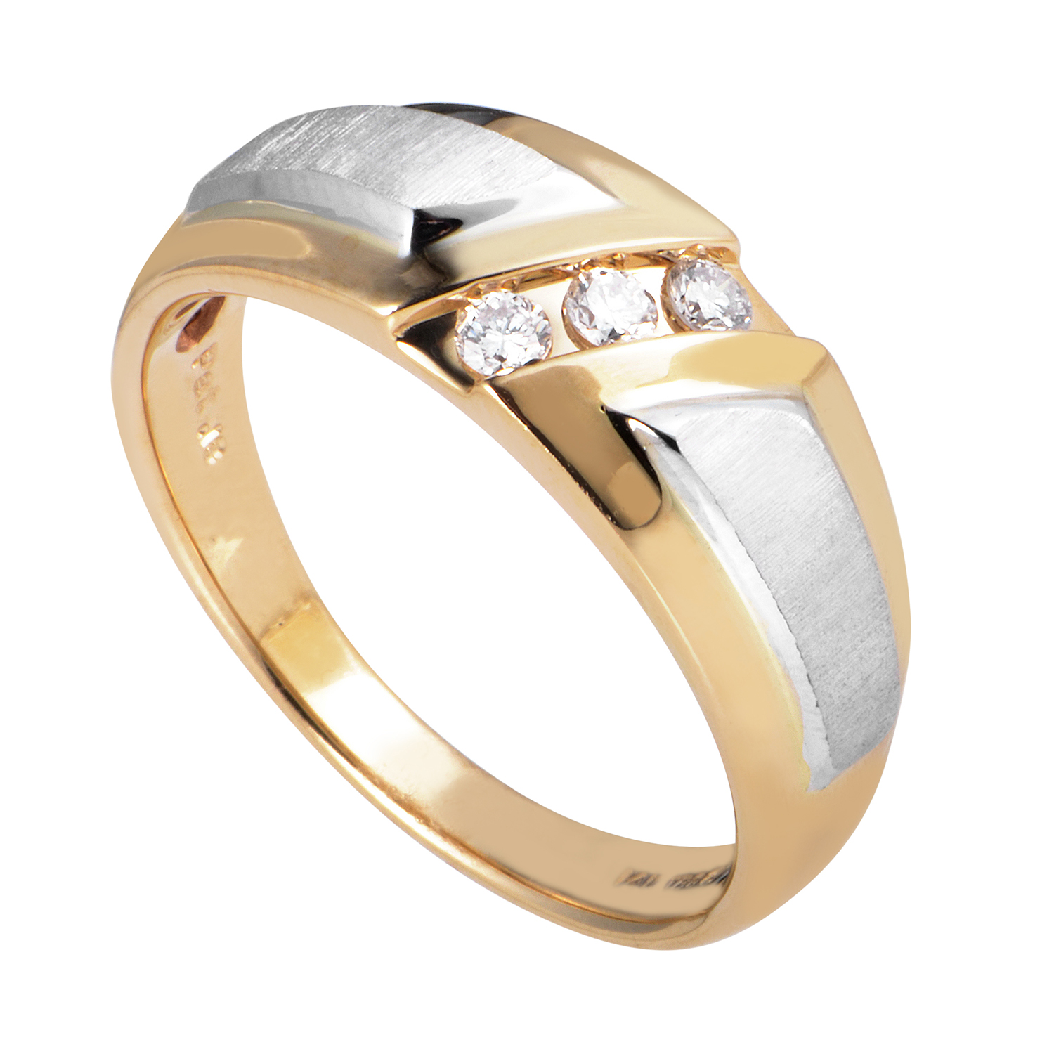 14K Multi-Tone Gold Diamond Band Ring 63232XXX4EYW
