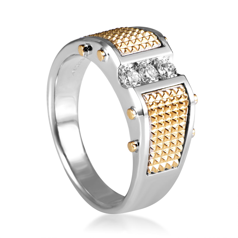 14K Multi-Tone Gold Diamond Band Ring 63450XGW4X1