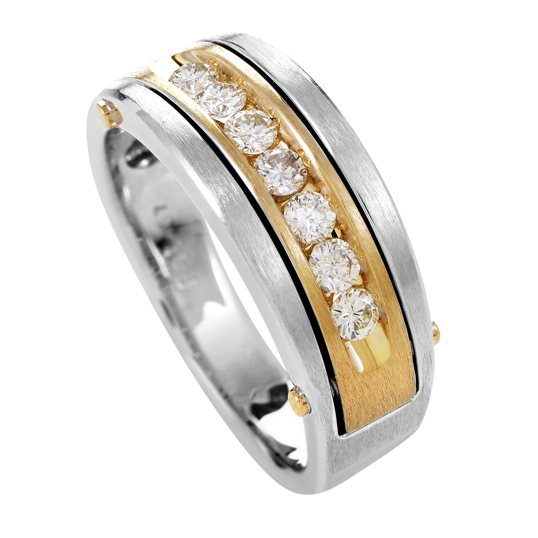 Men's 14K Multi-Tone Gold & Diamond Band Ring 63511XGW4X1