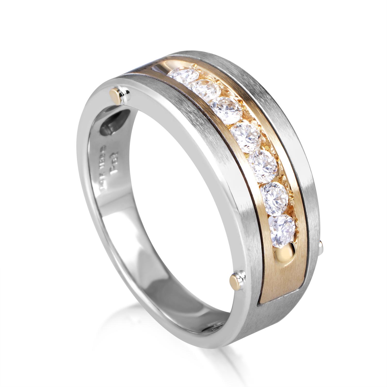 14K Multi-Tone Gold Diamond Band Ring 63511XGW4X3