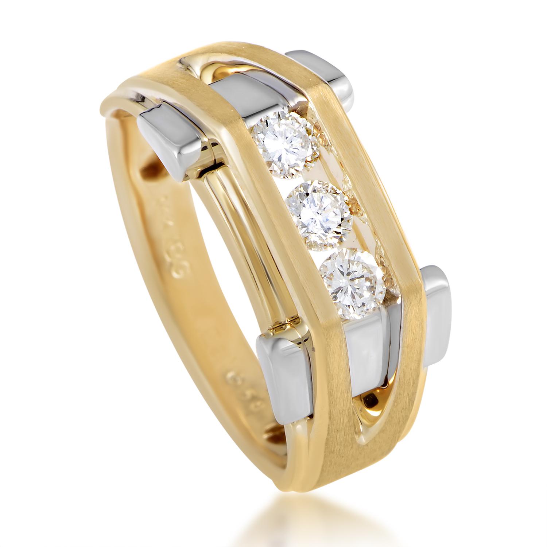 Men's 14K Multi-Tone Gold Diamond Band Ring 63737XXX4X1