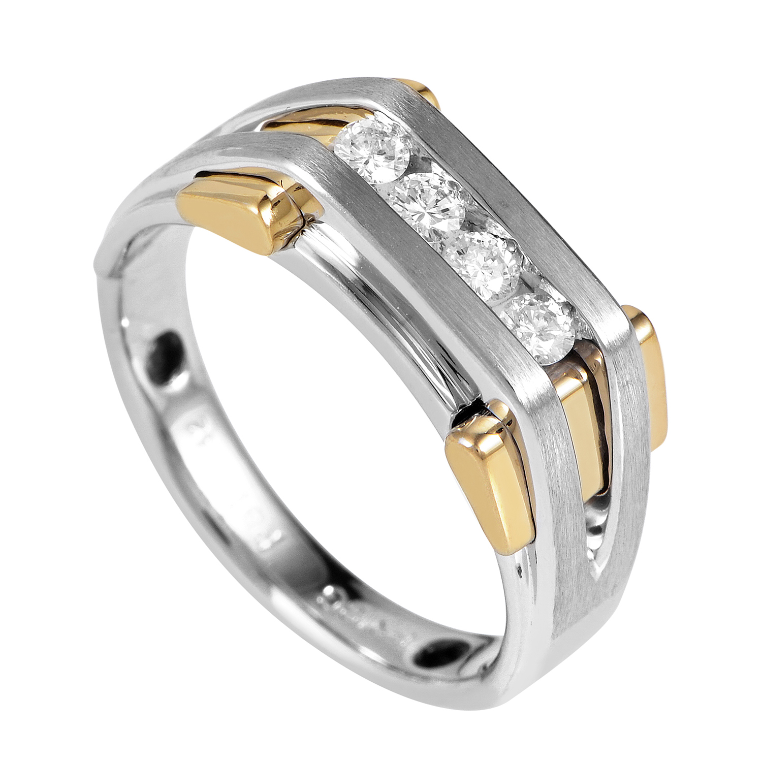 Men's 14K Multi-Tone Gold Diamond Band Ring 63743XGW4X