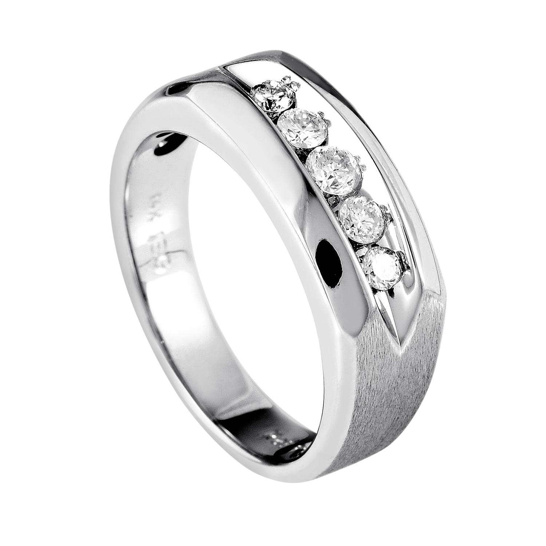 14K White Gold Diamond Band Ring 63999XGW4X