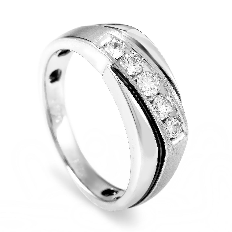 14K White Gold Diamond Band Ring 63999XGW4X1