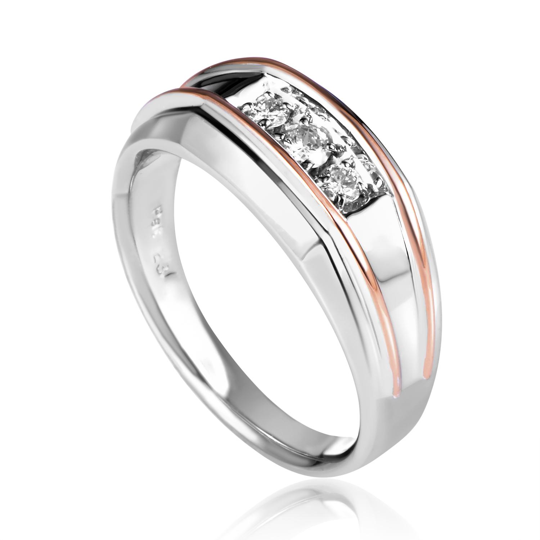 14K Multi-Tone Gold Diamond Band Ring 83172XXX4X1RG
