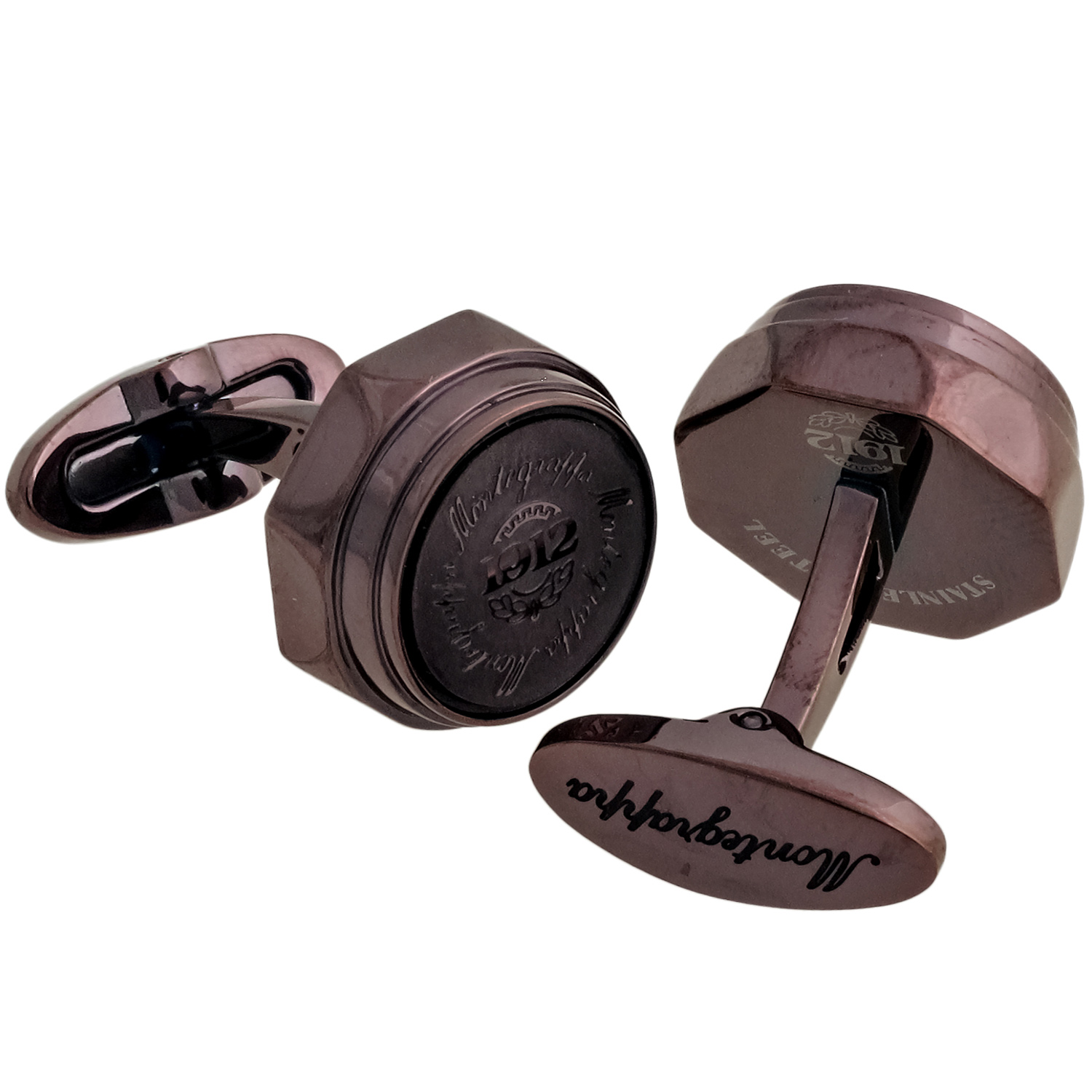 Emblema Brown PVD Brass Trademark Cufflinks IDEBCLI3