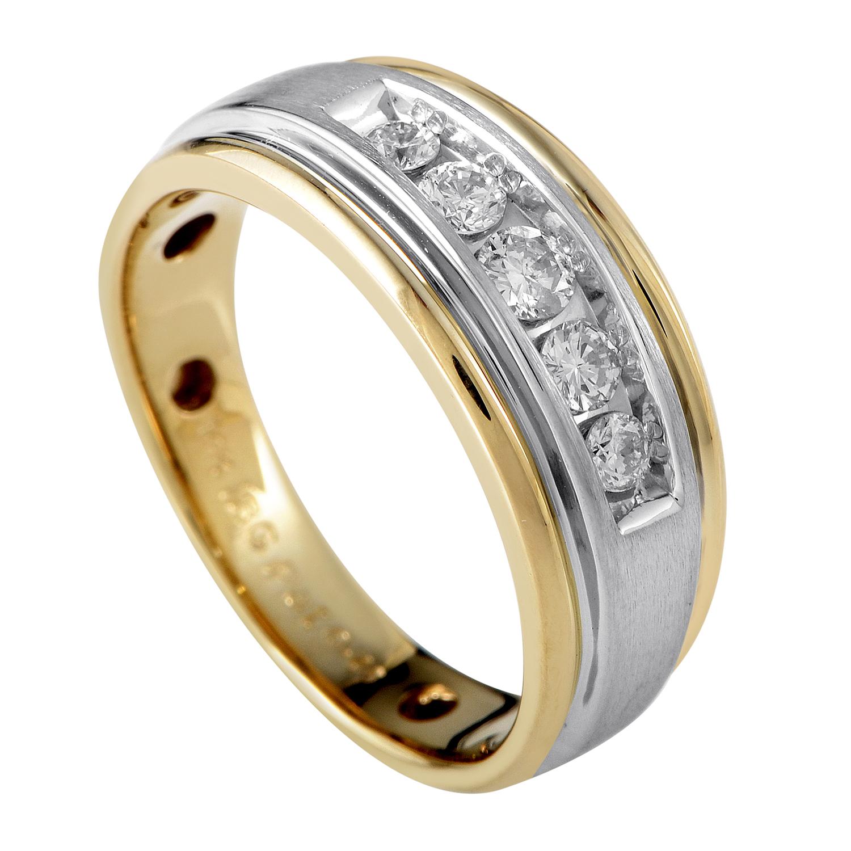 14K Multi-Tone Gold & Diamond Band Ring 58397AXX4X1