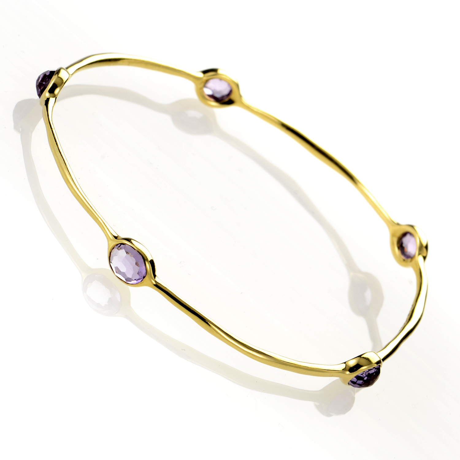 Rock Candy Dark Amethyst Lollipop Bangle GB254AM