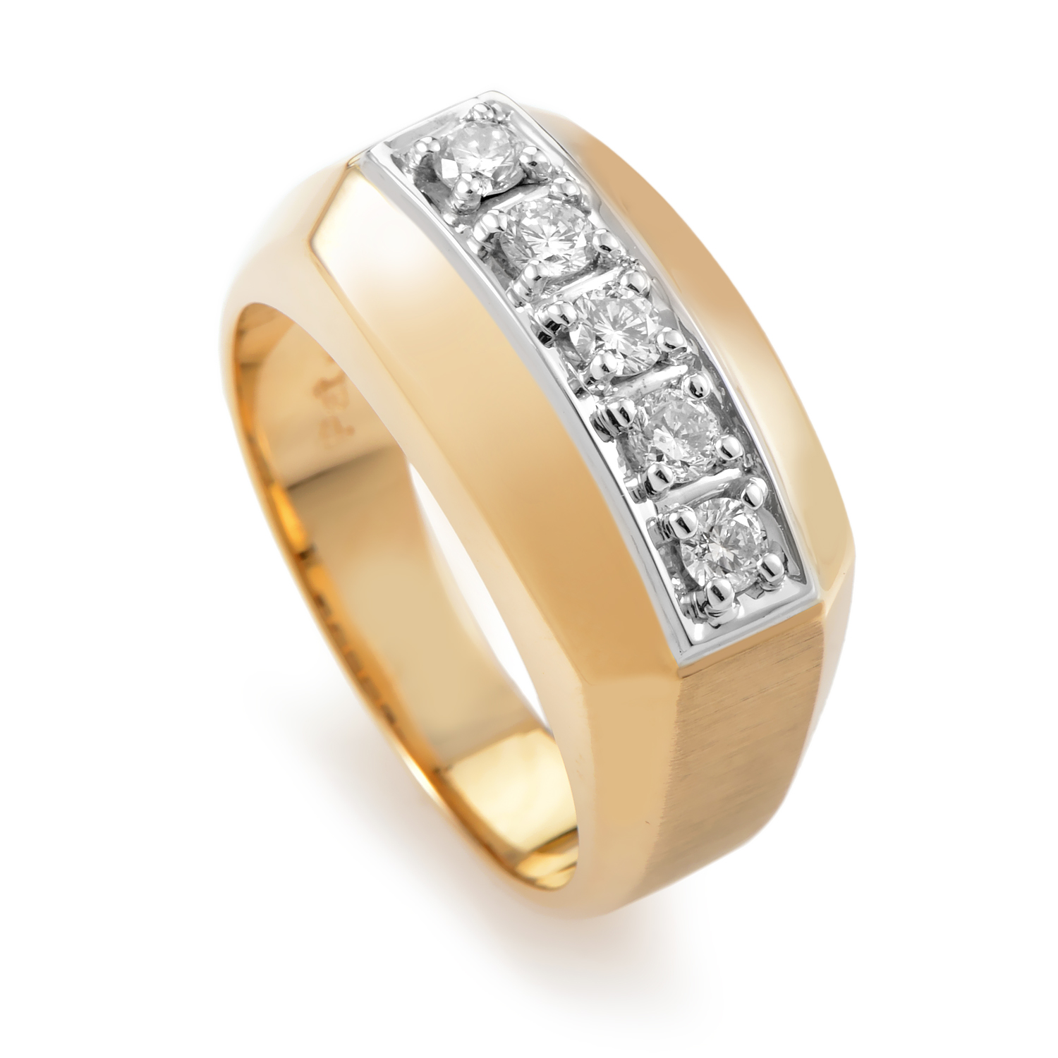 Men's 14K Multi-Tone Gold & Diamond Band Ring 55415XX4E