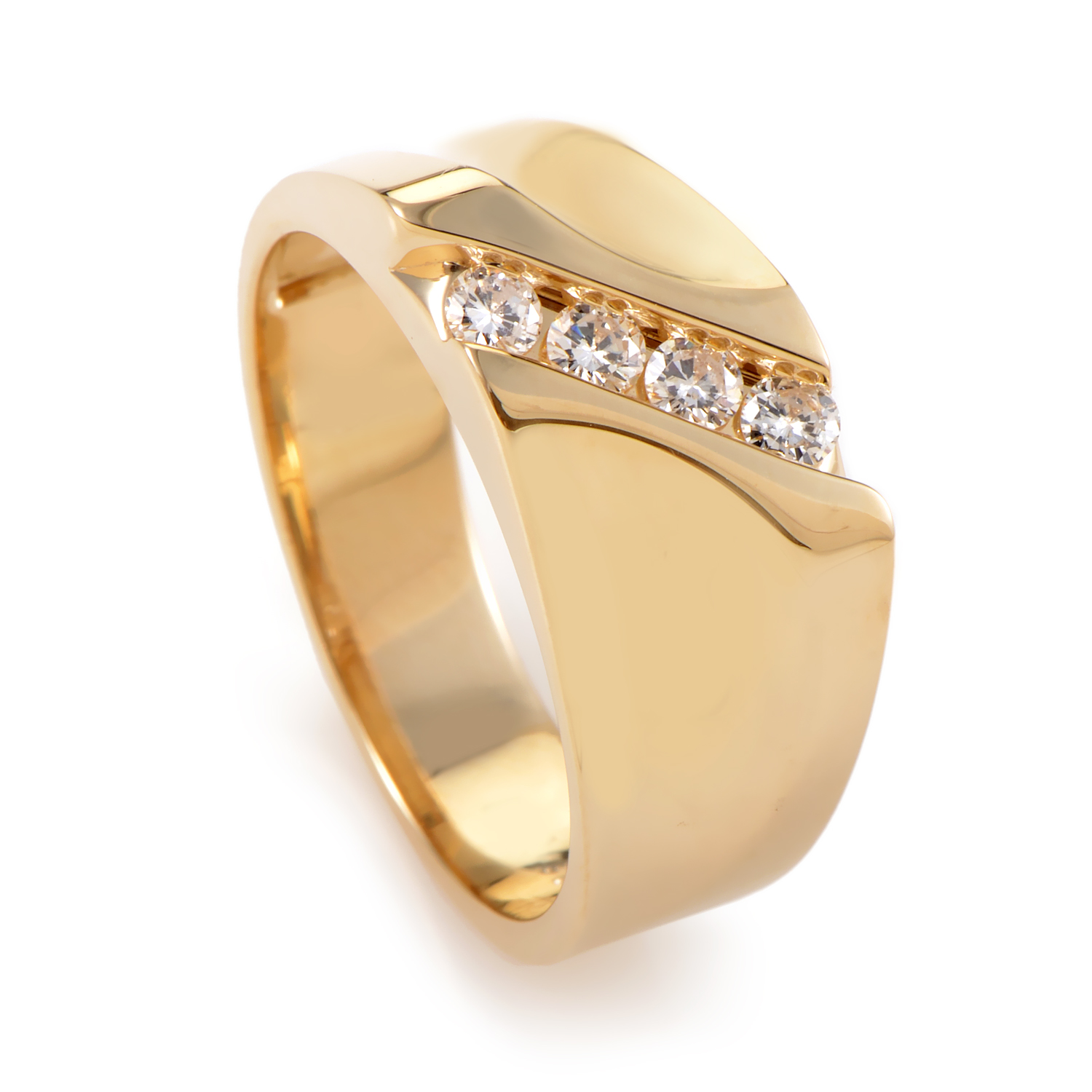 Men's 14K Yellow Gold Diamond Ring 56530AXX4X