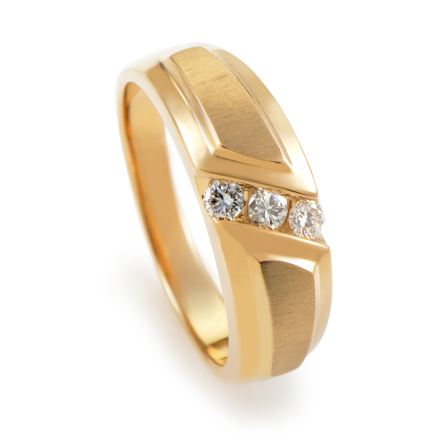 Men's 14K Yellow Gold Diamond Band Ring 56699XXX4X