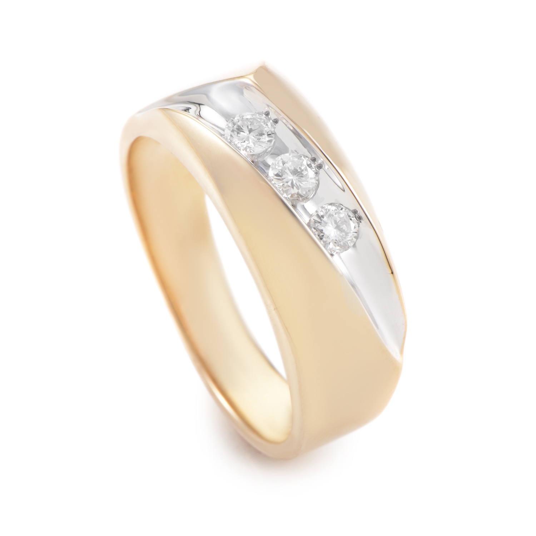 Men's 14K Multi-Tone Gold Diamond Band Ring 56894AXX4X