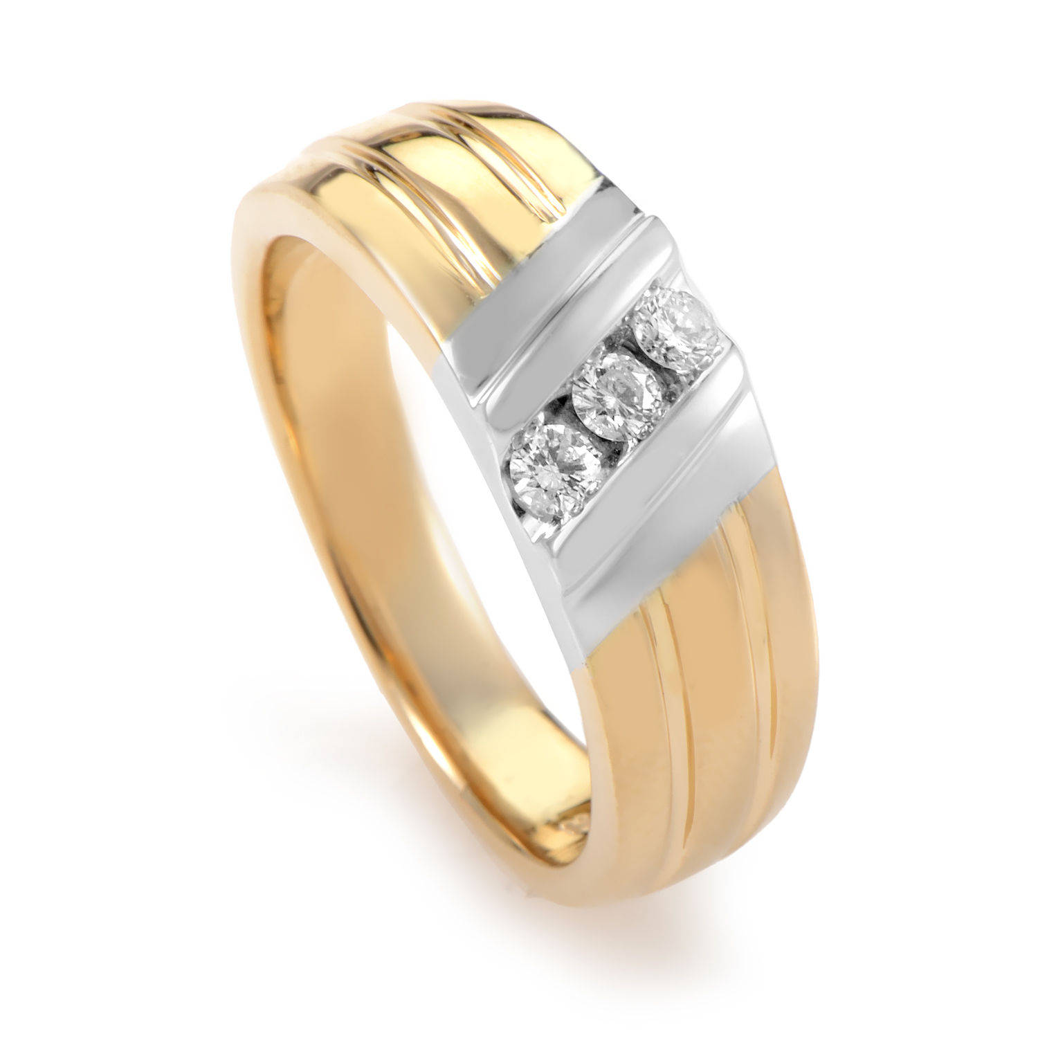 Men's 14K Multi-Tone Gold & Diamond Band Ring 56992XXX4X