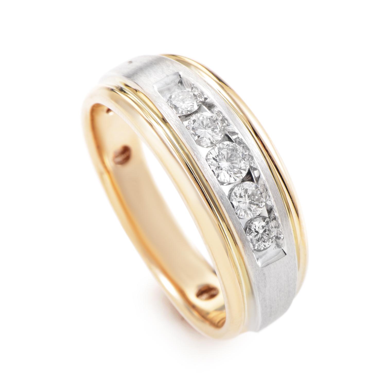 Men's 14K Multi-Tone Gold Diamond Band Ring 58397AXX4X