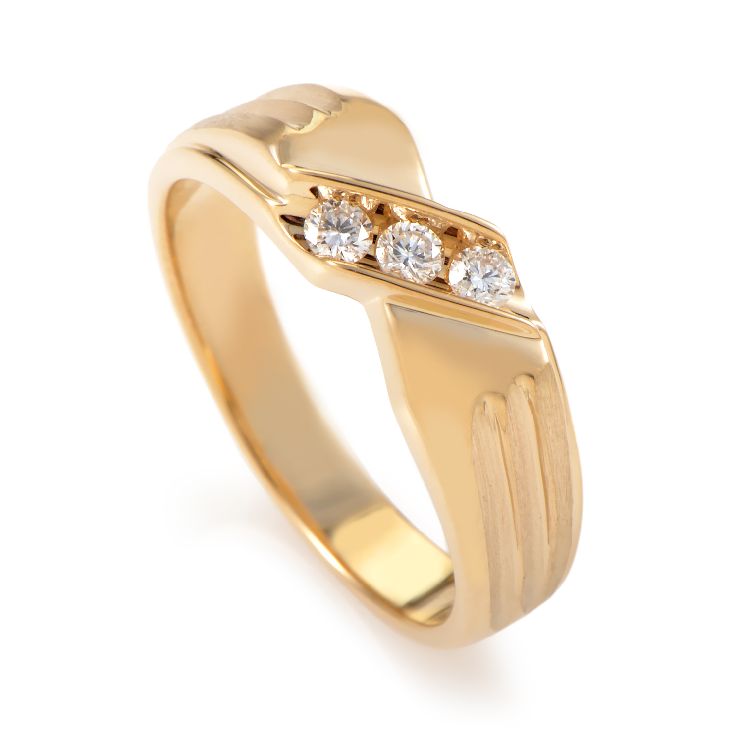14K Yellow Gold Diamond Band Ring 60613AGW4X