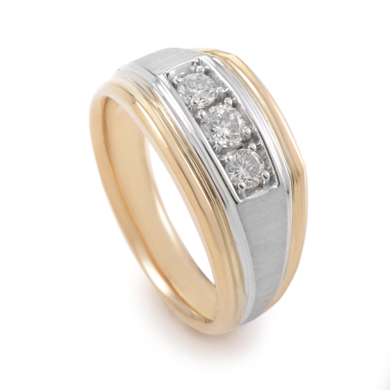 Men's 14K Multi-Tone Gold & Diamond Band Ring 63170XXX4X