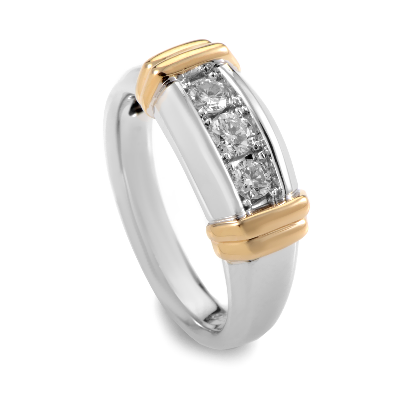 Men's 14K Multi-Tone Gold & Diamond Ring 63179XXX4X1