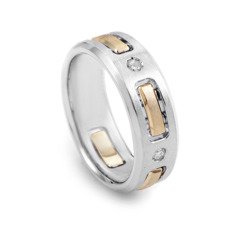 14K White & Yellow Gold Diamond Ring 63291XGW4X