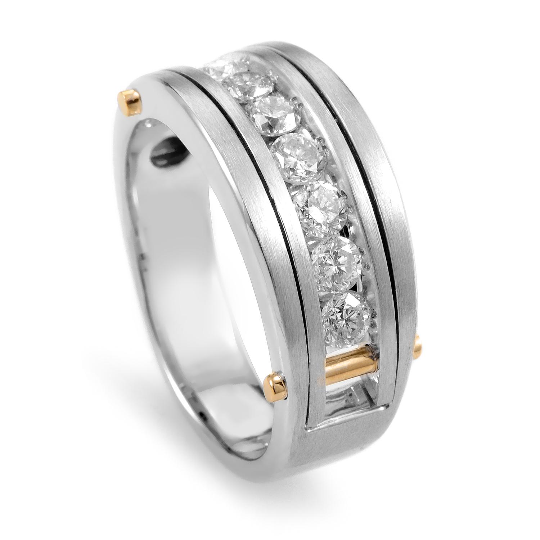 14K Multi-Tone Gold & Diamond Band Ring 63871XGW4X2