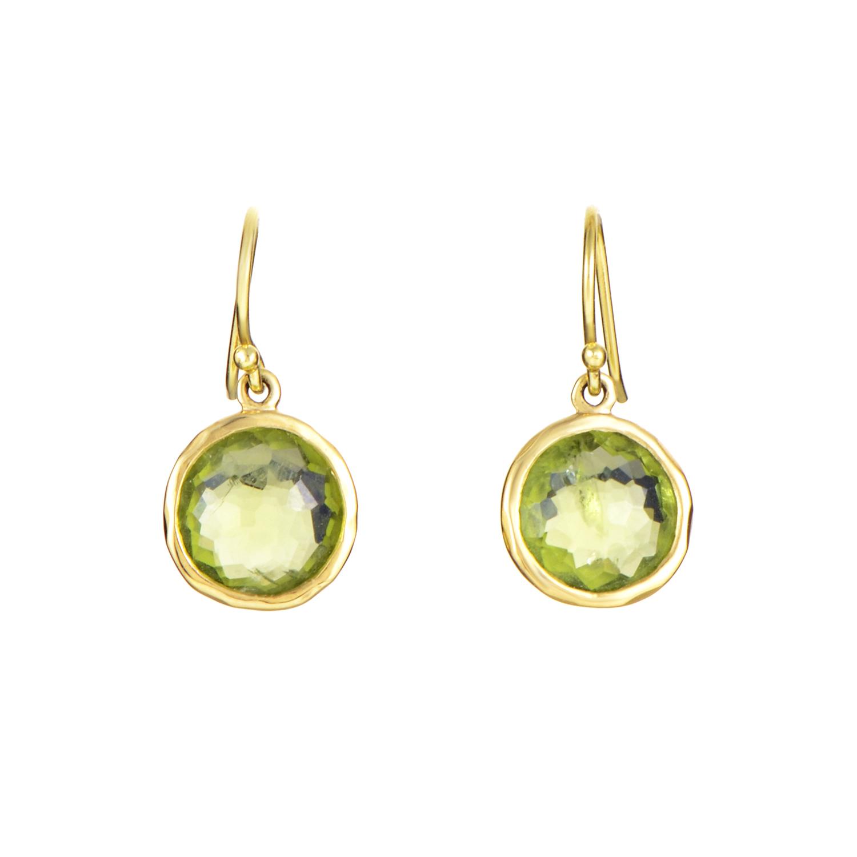 Ippolita Lollipop Mini Women's 18K Yellow Gold Peridot Dangle Earrings