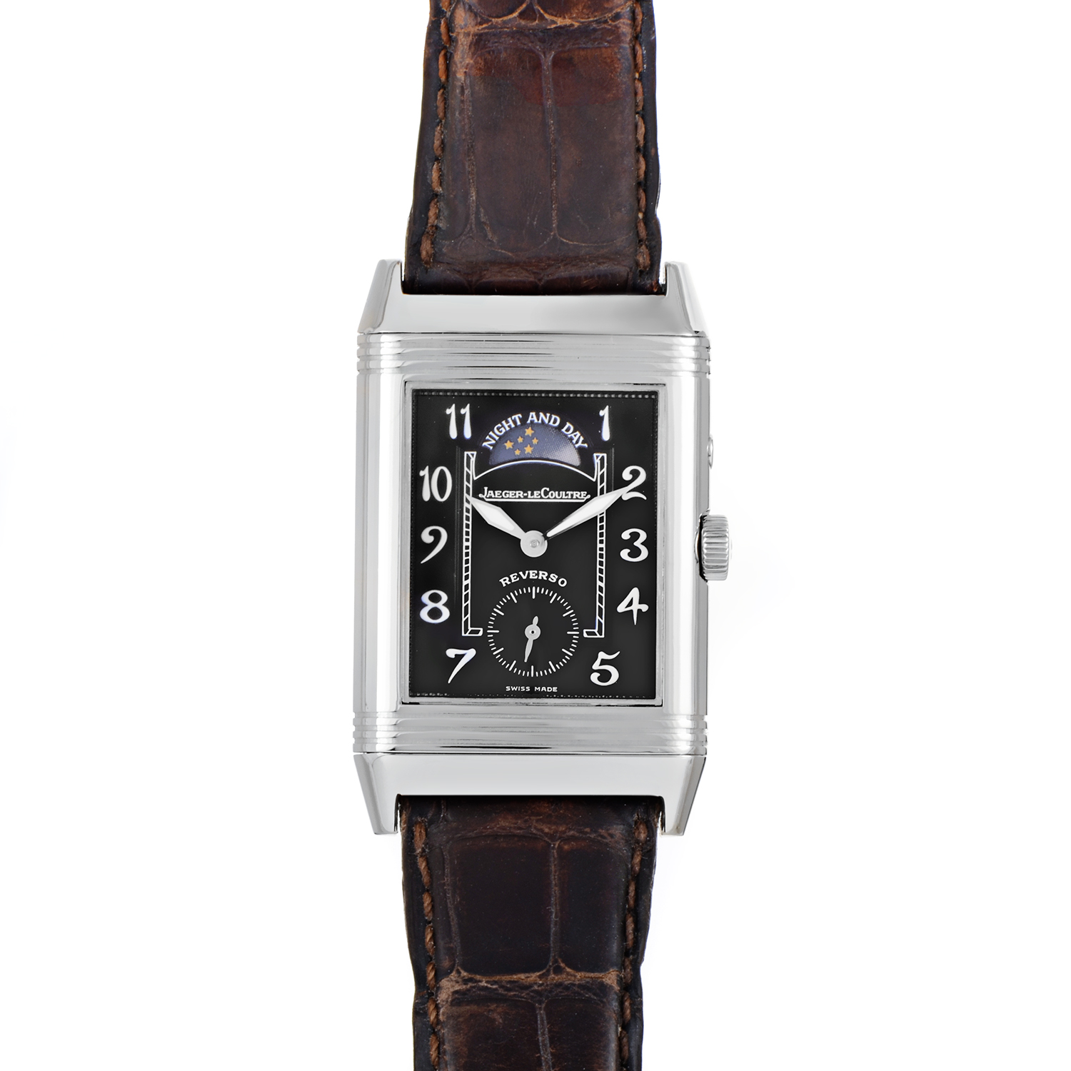 Reverso Duo Men's White Gold Manual Wind Watch 272.34.40