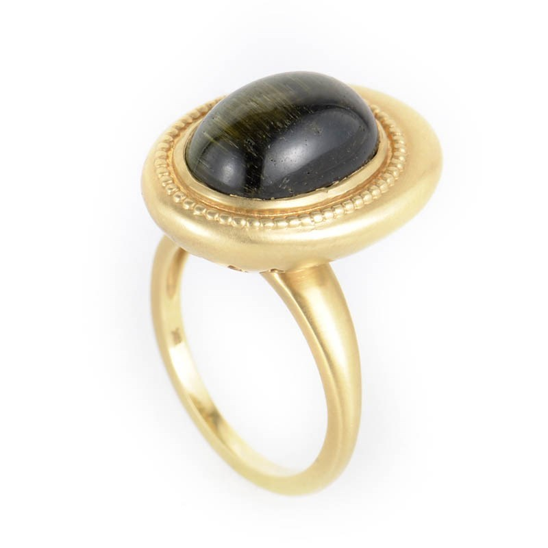 18K Yellow Gold Cat's Eye Ring