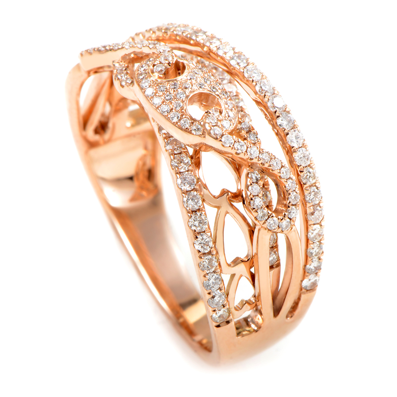 18K Rose Gold Diamond Ring KOW66781RRZ