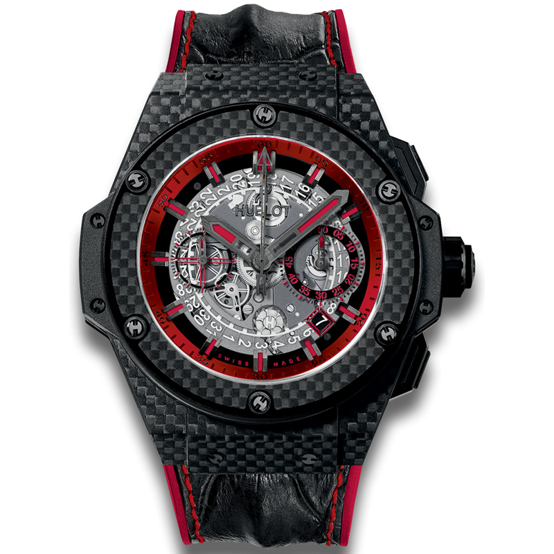 King Power Unico Carbon and Red 701.QX.0113.HR (Carbon Fiber)