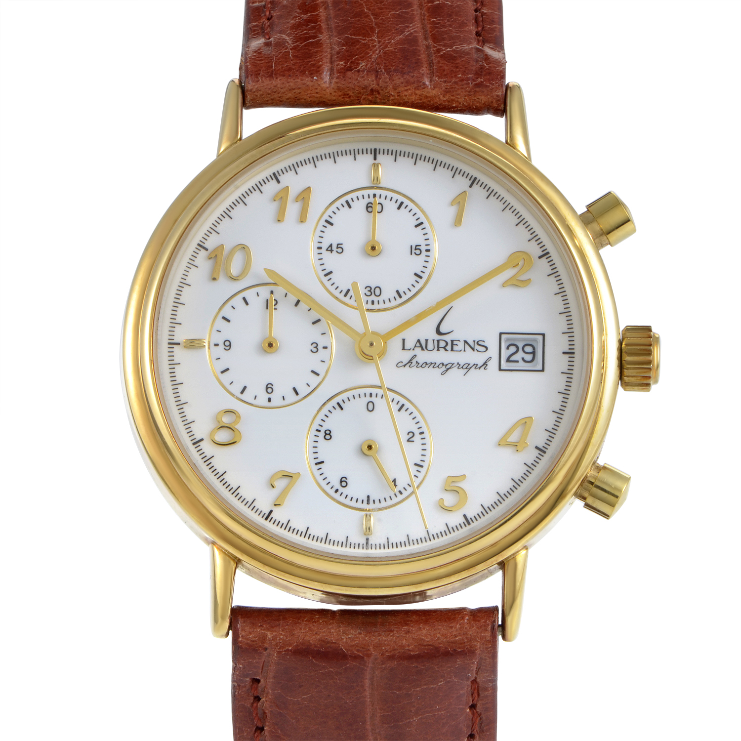Laurens Women's Yellow Gold Quartz Chronograph Watch 17447AA