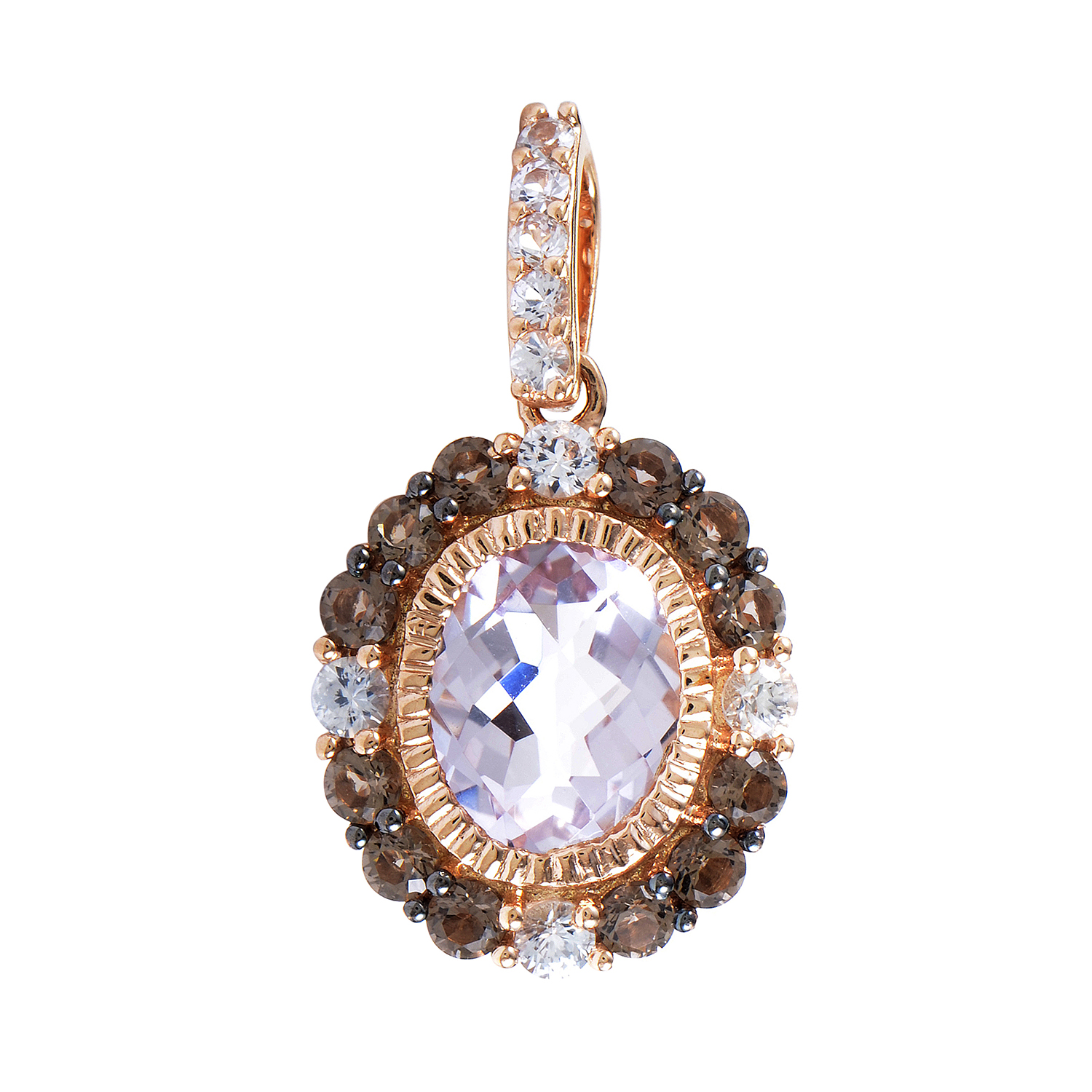 Women's 14K Rose Gold Multi-Gemstone Pendant LEV10-072216