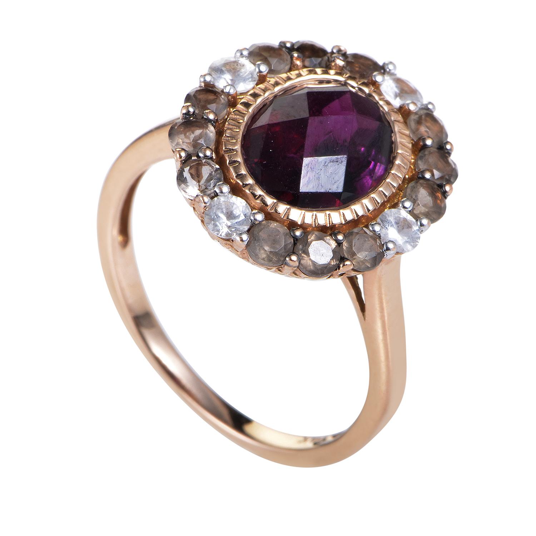 Women's 14K Rose Gold Multi-Gemstone Ring LEV17-072216
